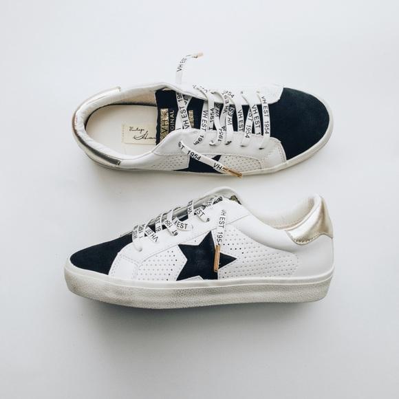 VINTAGE HAVANA Crystal Denim Slip On Platform Sneakers